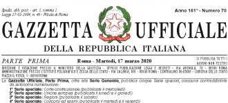 "Art 55 Decreto-Legge n. 18 del 17 marzo 2020, ""Cura Italia"""